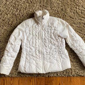 Nine West white puffer jacket